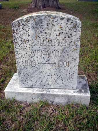 VENABLE, WILLIAM LUMPKIN - Ouachita County, Arkansas   WILLIAM LUMPKIN VENABLE - Arkansas Gravestone Photos