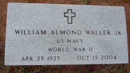 WALLER, JR (VETERAN WWII), WILLIAM ALMOND - Ouachita County, Arkansas | WILLIAM ALMOND WALLER, JR (VETERAN WWII) - Arkansas Gravestone Photos