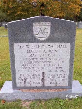 WALTHALL, W JETHRO - Ouachita County, Arkansas | W JETHRO WALTHALL - Arkansas Gravestone Photos