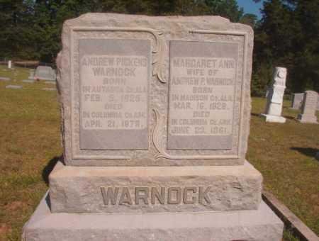 WARNOCK, ANDREW PICKENS - Ouachita County, Arkansas | ANDREW PICKENS WARNOCK - Arkansas Gravestone Photos