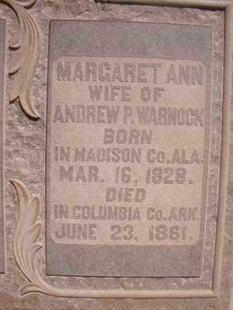 WARNOCK, MARGARET ANN - Ouachita County, Arkansas | MARGARET ANN WARNOCK - Arkansas Gravestone Photos
