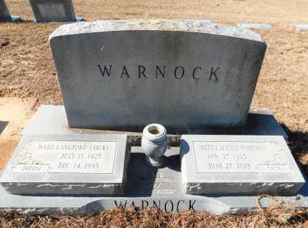 "WARNOCK, WARD LANGFORD "" JACK"" - Ouachita County, Arkansas | WARD LANGFORD "" JACK"" WARNOCK - Arkansas Gravestone Photos"