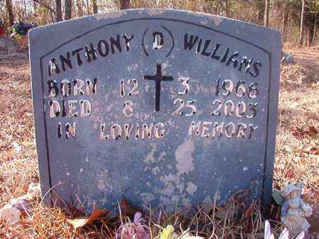 WILLIAMS, ANTHONY D - Ouachita County, Arkansas | ANTHONY D WILLIAMS - Arkansas Gravestone Photos