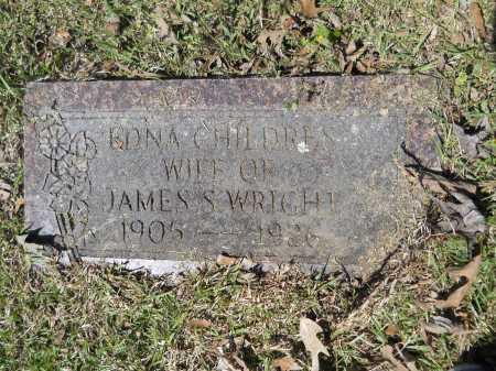 CHILDERS WRIGHT, EDNA - Ouachita County, Arkansas | EDNA CHILDERS WRIGHT - Arkansas Gravestone Photos
