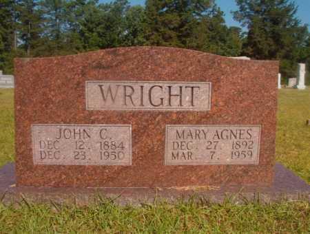 WRIGHT, MARY AGNES - Ouachita County, Arkansas | MARY AGNES WRIGHT - Arkansas Gravestone Photos