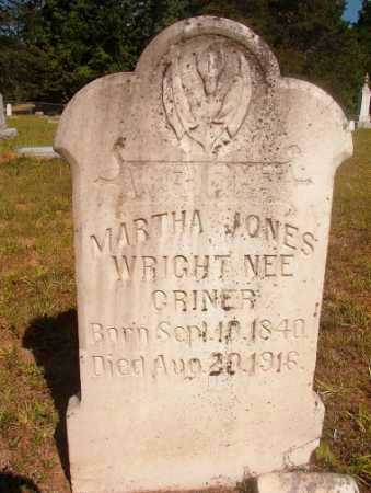 CRINER WRIGHT, MARTHA JONES - Ouachita County, Arkansas | MARTHA JONES CRINER WRIGHT - Arkansas Gravestone Photos