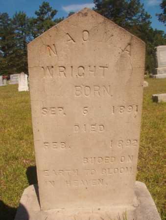 WRIGHT, NAOMA - Ouachita County, Arkansas   NAOMA WRIGHT - Arkansas Gravestone Photos