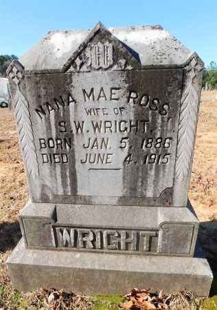 ROSS WRIGHT, NANA MAE - Ouachita County, Arkansas | NANA MAE ROSS WRIGHT - Arkansas Gravestone Photos