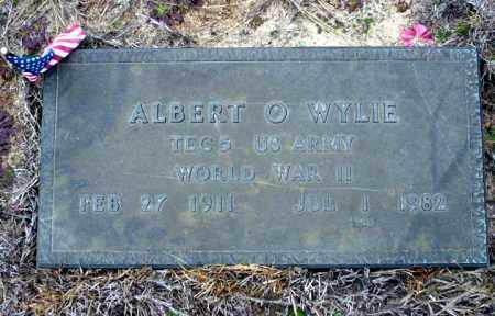 WYLIE  (VETERAN WWII), ALBERT O - Ouachita County, Arkansas   ALBERT O WYLIE  (VETERAN WWII) - Arkansas Gravestone Photos