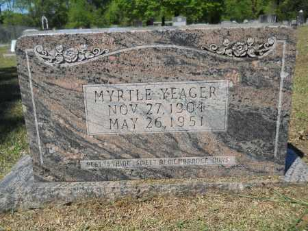 YEAGER, MYRTLE - Ouachita County, Arkansas | MYRTLE YEAGER - Arkansas Gravestone Photos