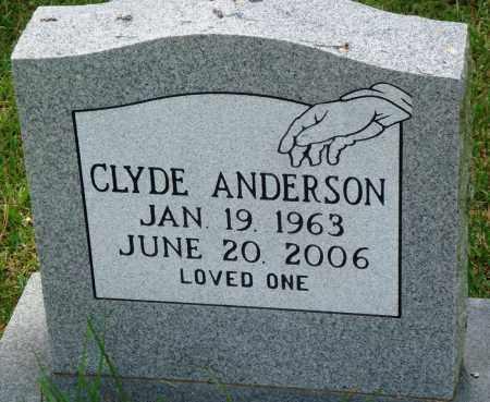 ANDERSON, CLYDE - Perry County, Arkansas | CLYDE ANDERSON - Arkansas Gravestone Photos