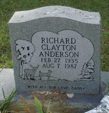 ANDERSON, RICHARD CLAYTON - Perry County, Arkansas | RICHARD CLAYTON ANDERSON - Arkansas Gravestone Photos