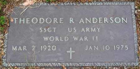 ANDERSON (VETERAN WWII), THEODORE R - Perry County, Arkansas | THEODORE R ANDERSON (VETERAN WWII) - Arkansas Gravestone Photos