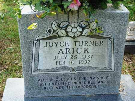 TURNER ARICK, JOYCE - Perry County, Arkansas | JOYCE TURNER ARICK - Arkansas Gravestone Photos