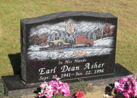 ASHER, EARL DEAN - Perry County, Arkansas   EARL DEAN ASHER - Arkansas Gravestone Photos