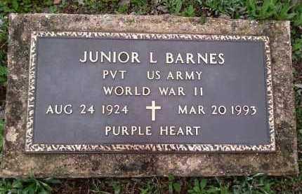 BARNES  (VETERAN WWII), JUNIOR L - Perry County, Arkansas | JUNIOR L BARNES  (VETERAN WWII) - Arkansas Gravestone Photos