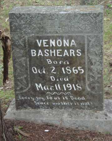 BASHEARS, VENONA - Perry County, Arkansas   VENONA BASHEARS - Arkansas Gravestone Photos