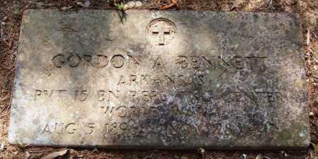 BENNETT  (VETERAN WWI), GORDON A - Perry County, Arkansas   GORDON A BENNETT  (VETERAN WWI) - Arkansas Gravestone Photos
