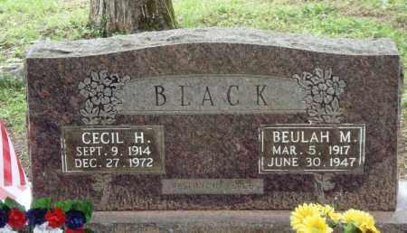 BLACK, CECIL H - Perry County, Arkansas   CECIL H BLACK - Arkansas Gravestone Photos