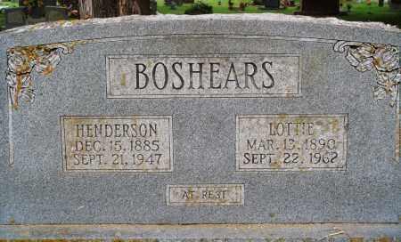 BOSHEARS, HENDERSON - Perry County, Arkansas | HENDERSON BOSHEARS - Arkansas Gravestone Photos
