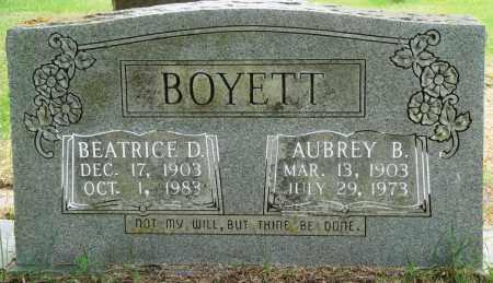 BOYETT, BEATRICE D - Perry County, Arkansas | BEATRICE D BOYETT - Arkansas Gravestone Photos