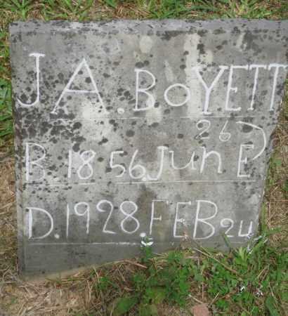 BOYETT, J A - Perry County, Arkansas | J A BOYETT - Arkansas Gravestone Photos