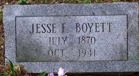 BOYETT, JESSE F - Perry County, Arkansas | JESSE F BOYETT - Arkansas Gravestone Photos