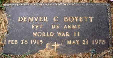 BOYETT (VETERAN WWII), DENVER C - Perry County, Arkansas | DENVER C BOYETT (VETERAN WWII) - Arkansas Gravestone Photos