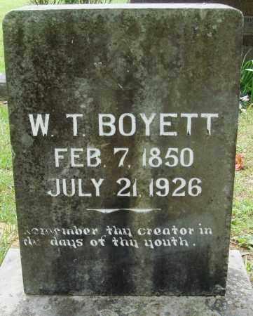 BOYETT, WILLIAM TAYLOR - Perry County, Arkansas | WILLIAM TAYLOR BOYETT - Arkansas Gravestone Photos