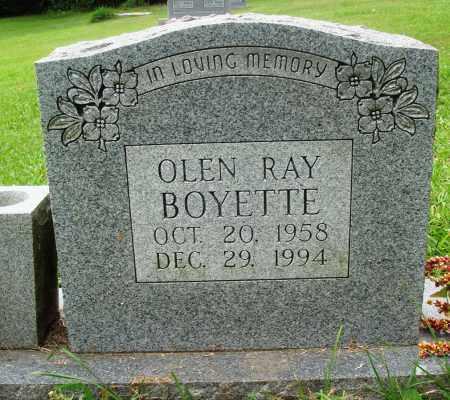BOYETTE, OLEN RAY - Perry County, Arkansas | OLEN RAY BOYETTE - Arkansas Gravestone Photos
