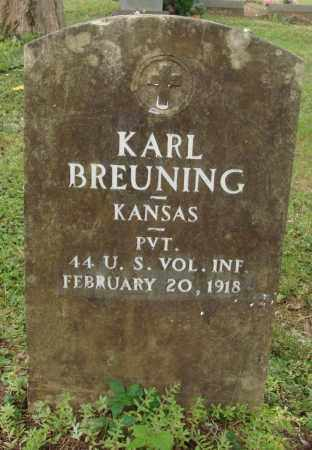 BREUNING (VETERAN), KARL - Perry County, Arkansas   KARL BREUNING (VETERAN) - Arkansas Gravestone Photos