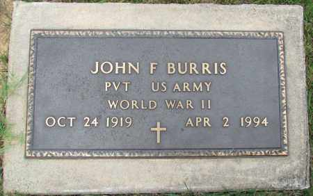 BURRIS (VETERAN WWII), JOHN F - Perry County, Arkansas | JOHN F BURRIS (VETERAN WWII) - Arkansas Gravestone Photos