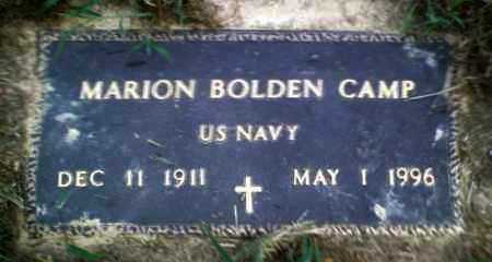 CAMP  (VETERAN), MARION BOLDEN - Perry County, Arkansas | MARION BOLDEN CAMP  (VETERAN) - Arkansas Gravestone Photos
