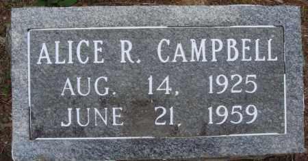 CAMPBELL, ALICE R - Perry County, Arkansas   ALICE R CAMPBELL - Arkansas Gravestone Photos