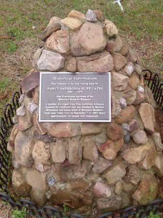 HUFF CATES, NANCY SAPHRONIA - Perry County, Arkansas | NANCY SAPHRONIA HUFF CATES - Arkansas Gravestone Photos