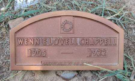 CHAPPELL, WENNIE - Perry County, Arkansas | WENNIE CHAPPELL - Arkansas Gravestone Photos