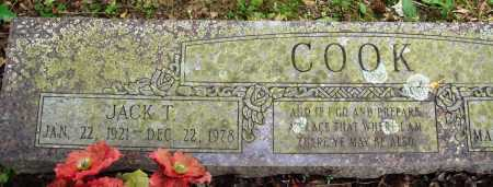 COOK, JACK T - Perry County, Arkansas | JACK T COOK - Arkansas Gravestone Photos