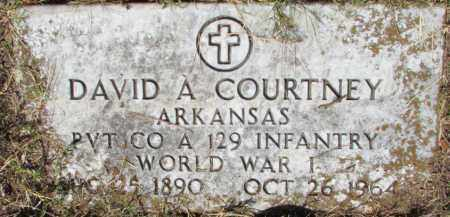 COURTNEY (VETERAN WWI), DAVID A - Perry County, Arkansas | DAVID A COURTNEY (VETERAN WWI) - Arkansas Gravestone Photos