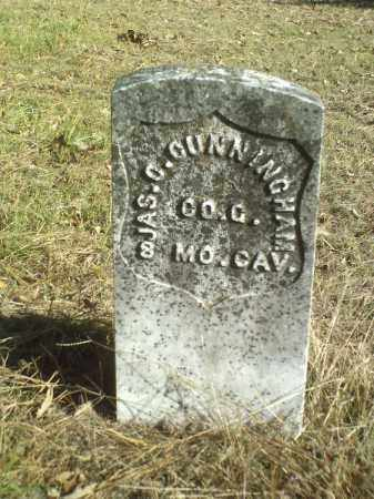 CUNNINGHAM  (VETERAN UNION), JAMES OSBURN - Perry County, Arkansas | JAMES OSBURN CUNNINGHAM  (VETERAN UNION) - Arkansas Gravestone Photos