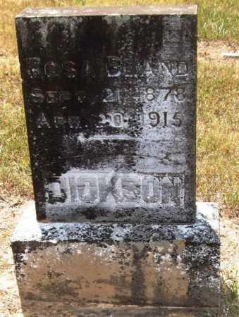 BLAND DICKSON, ROSA - Perry County, Arkansas   ROSA BLAND DICKSON - Arkansas Gravestone Photos