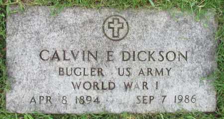 DICKSON (VETERAN WWI), CALVIN E - Perry County, Arkansas | CALVIN E DICKSON (VETERAN WWI) - Arkansas Gravestone Photos