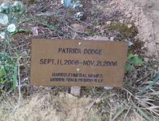 DODGE, PATRICK FRANKLIN - Perry County, Arkansas | PATRICK FRANKLIN DODGE - Arkansas Gravestone Photos