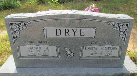 DRYE, CHESTER M - Perry County, Arkansas | CHESTER M DRYE - Arkansas Gravestone Photos