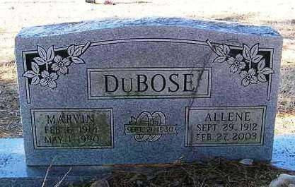 DUBOSE, MARVIN - Perry County, Arkansas | MARVIN DUBOSE - Arkansas Gravestone Photos