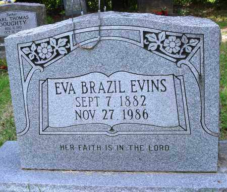 BRAZIL EVINS, EVA - Perry County, Arkansas | EVA BRAZIL EVINS - Arkansas Gravestone Photos