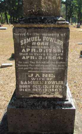 FOWLER, JANE - Perry County, Arkansas | JANE FOWLER - Arkansas Gravestone Photos