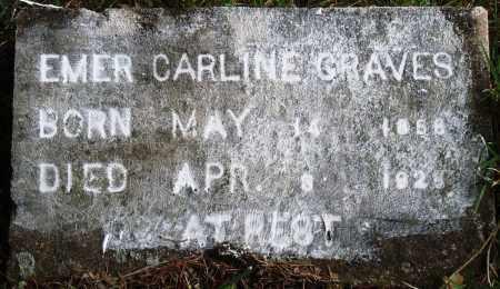 GRAVES, EMER CARLINE - Perry County, Arkansas | EMER CARLINE GRAVES - Arkansas Gravestone Photos