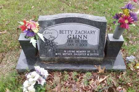 ZACHARY GUNN, BETTY - Perry County, Arkansas   BETTY ZACHARY GUNN - Arkansas Gravestone Photos
