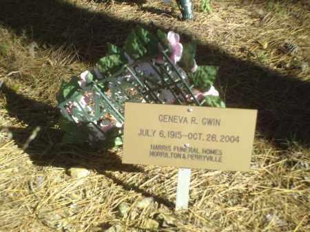 GWIN, GENEVA R - Perry County, Arkansas | GENEVA R GWIN - Arkansas Gravestone Photos