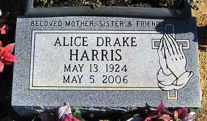 DRAKE HARRIS, ALICE - Perry County, Arkansas | ALICE DRAKE HARRIS - Arkansas Gravestone Photos